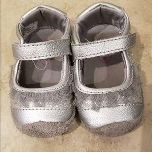 Stride Rite Silver Toddler/Baby Shoes Glitter